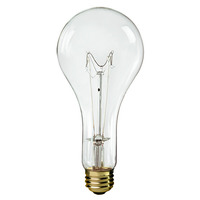 300 Watt - PS25 - Clear - 5,000 Life Hours - 3,600 Lumens - Medium Base - 130 Volt