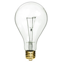 1000 Watt Incandescent - PS52 Incandescent Light Bulb - Clear - Mogul Brass Base - 130 Volt - PLT IN-1000PS130
