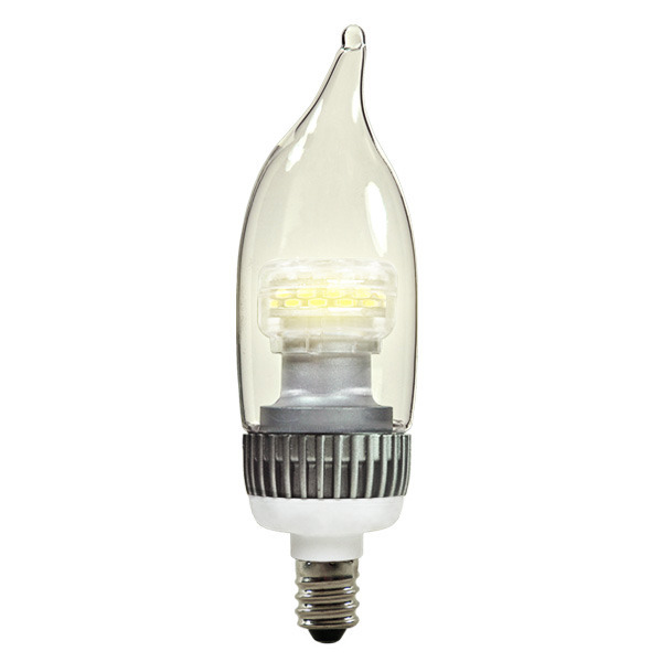 LED - 3 Watt - Clear Bent Tip Torpedo - 15 Watt Equal Image