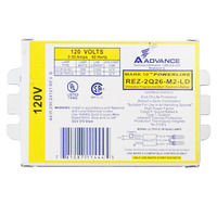 Advance Mark 10 Powerline REZ-2Q26-M2-LDK - (2) Lamp - 26 Watt CFL - 120 Volt - Programmed Start - 1.0 Ballast Factor - Dimming