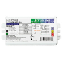 Howard EP2/26CF/MV/K - (2) Lamp - 26 Watt CFL - 120/277 Volt - Programmed Start - 1.04 Ballast Factor