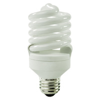 Spiral CFL - 27 Watt - 100 Watt Equal - Halogen Match - 1850 Lumens - 3000 Kelvin - Medium Base - 120 Volt - TCP 48927M-30K