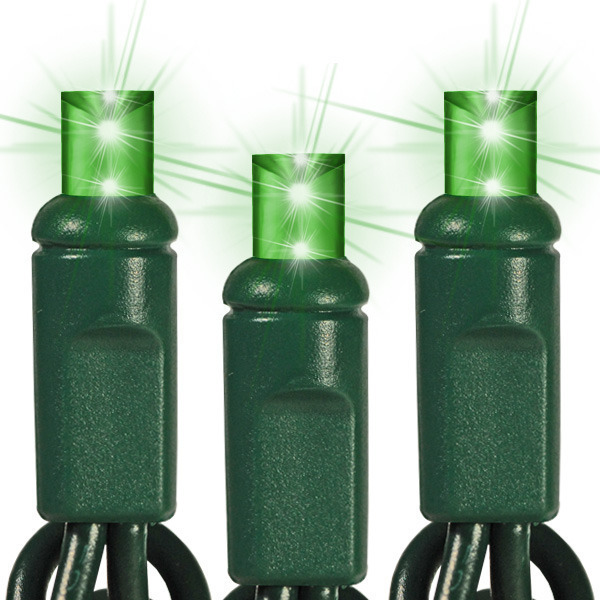 17 ft. String Lights - (50) Wide Angle LED's - GREEN Image