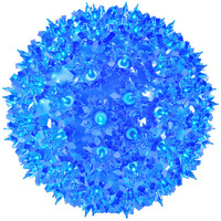 LED - Blue Starlight Sphere - Utilizes 100 LED Mini Lights - 7.5 in. dia. - Green Wire - Indoor/Outdoor - 120 Volt