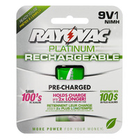 Rayovac Platinum - 9V Size - Rechargeable NiMH Battery - PL1604-1