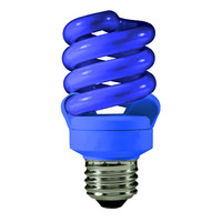 Spiral CFL - 13 Watt - 60W Equal - Blue Party Light - 82 CRI