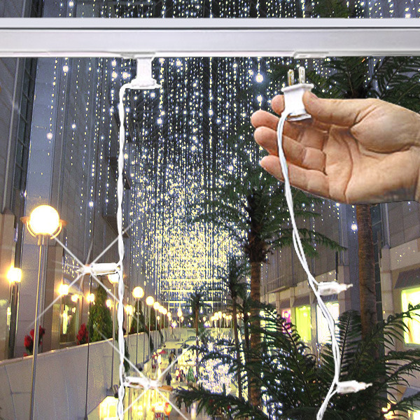 (50) Bulbs - (1) Twinkling Curtain Strand Image