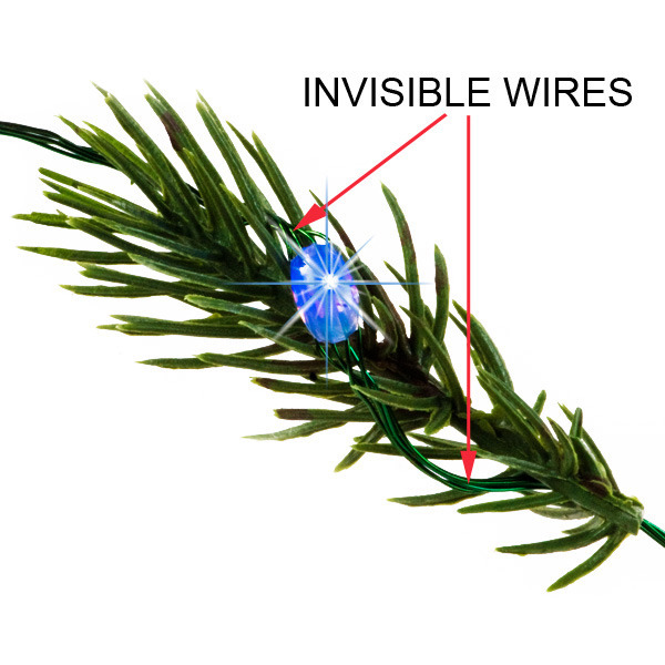 5.6 ft. Invisilite Wire Lights - (18) Tear Drop LEDs Image