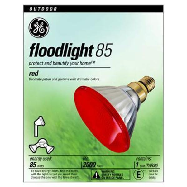 GE 13472 - 85 Watt - PAR38 - Red Image