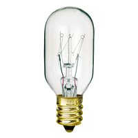 25 Watt - T7 Incandescent Light Bulb - Clear - Candelabra Brass Base - 130 Volt - PLT 25T7-130V-CS