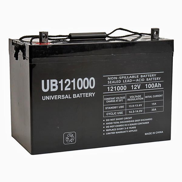 12v 100 ah ub121000 agm battery upg 45978. Black Bedroom Furniture Sets. Home Design Ideas