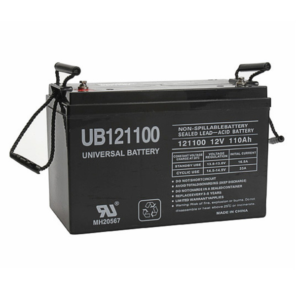 12v 110 ah ub121100 agm battery upg 45981. Black Bedroom Furniture Sets. Home Design Ideas