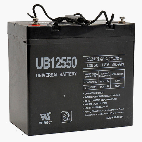 12 Volt - 55 Ah - UB12550 (Group 22NF) - AGM Battery Image