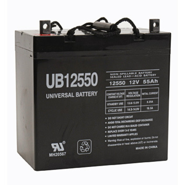 12 Volt - 55 Ah - UB12550 (+ ON LEFT) - AGM Battery Image