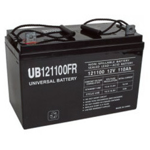 12v 110 ah ub121100fr agm battery upg d5884. Black Bedroom Furniture Sets. Home Design Ideas
