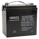6 Volt - 200 Ah - UB-GC2  - (Golf Cart) AGM Battery Image