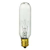 25 Watt - T6 Incandescent Light Bulb - Clear - Candelabra Brass Base - 120 Volt - Bulbrite 707125