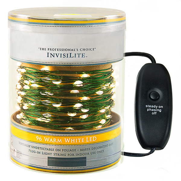 96 LED | InvisiLite String Light | Warm White