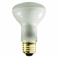 30 Watt - R20 Incandescent Light Bulb - Frosted - Medium Brass Base - 130 Volt - Satco S2810
