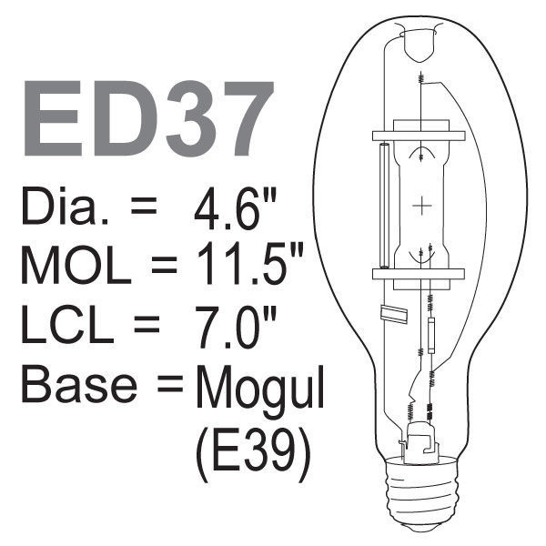 400 Watt - ED37 - Metal Halide Image