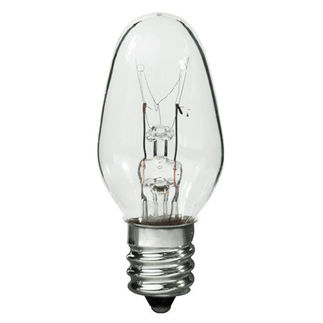 4 Watt - C7 - 120 Volt - 3,000 Life Hours - Candelabra Base - Incandescent Light Bulb - 4C7/CL/CAND/120V C7