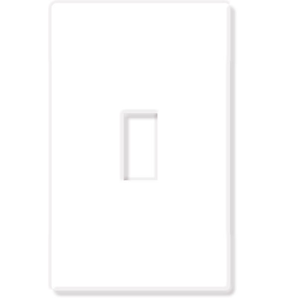 Toggle Wall Plate - White Gloss - 1 Gang Image
