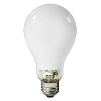 100 Watt - Mercury Vapor - 4000 Lumens - 3800K - Coated - Medium Base - ANSI H38 - MV100/DX/38/A23 - Plusrite 2302