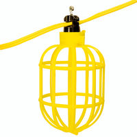 100 ft. String Light with 10 Pin Type and Guards - 14AWG Flat Wire - PLT YFW-100
