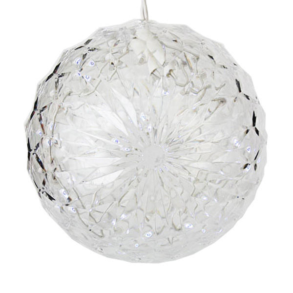 (20) COOL WHITE LEDs - 6 in. dia. Starlight Sphere Image