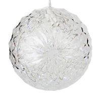 (20) COOL WHITE LEDs - 6 in. dia. Starlight Sphere - White Wire - Indoor/Outdoor - 120 Volt