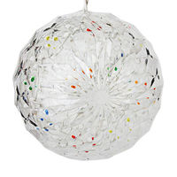 (20) MULTI-COLOR LEDs - 6 in. dia. Starlight Sphere - White Wire - Indoor/Outdoor - 120 Volt