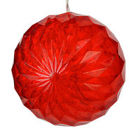 (20) RED LEDs - 6 in. dia. Starlight Sphere - White Wire - Indoor/Outdoor - 120 Volt