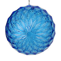 LED - Blue Starlight Sphere - Utilizes 20 LED Mini Lights - 6 in. dia. - Green Wire - Indoor/Outdoor - 120 Volt