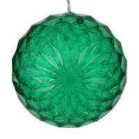 LED - Green Starlight Sphere -  Utilizes 20 LED Mini Lights - 6 in. dia. - White Wire - Indoor/Outdoor - 120 Volt