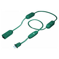 9 ft. Indoor Extension Cord - 9 Grounded Outlet - 5 Amp - 625 Max. Wattage - Green