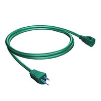 (18 ft.) Green - Christmas Light Extension Cord - Indoor/Outdoor