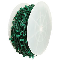 C9 Stringer - 1000 ft. - 800 Intermediate Sockets - Green Wire - Socket Spacing 15 in. - SPT-1