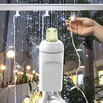 (100) LED Bulbs - (1) Twinkling Curtain Strand Image