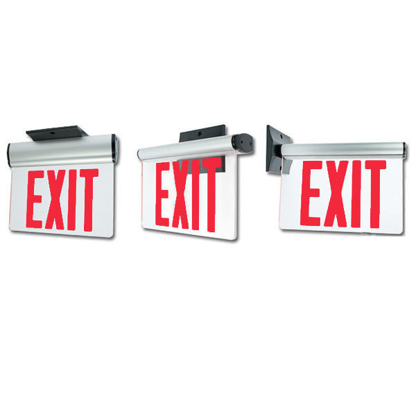 LED Exit Sign - Edge-Lit - Red Letters Image