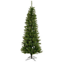 7.5 ft. x 36 in. - Salem Pencil Pine - 679 Classic Tips - 350 Clear Incandescent Mini Lights - Vickerman Artificial Christmas Tree