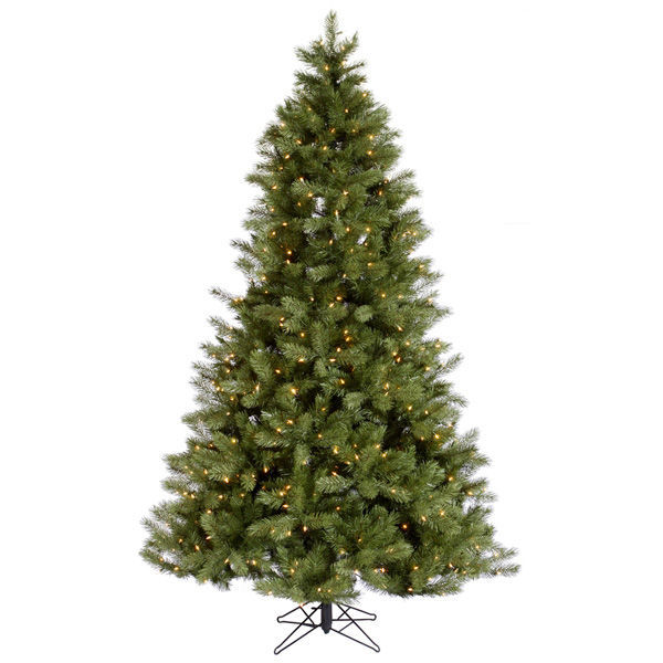 String Lights On Artificial Christmas Tree : 7 ft.x4.5 ft. - Albany Spruce - Pre-Lit
