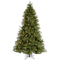 7 ft. x 54 in. - Albany Spruce - 1223 Realistic Molded Tips - 600 Clear Mini Lights - Artificial Christmas Tree