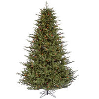 8.5 ft. Artificial Christmas Tree - High Definition PE/PVC Needles - Itasca Frasier - Pre-Lit with Multi-Color LED Bulbs - Vickerman A110382LED