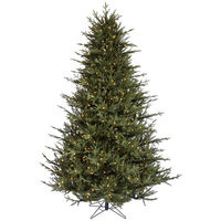 9.5 ft. Artificial Christmas Tree - High Definition PE/PVC Needles - Itasca Frasier - Pre-Lit with Warm White LED Bulbs - Vickerman A110386LED