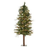 7 ft. x 36 in. - Mixed Country Alpine - 646 Classic PVC Tips - 250 Clear Mini Lights - Artificial Christmas Tree   - Vickerman A801971