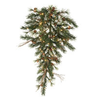 3 ft. Christmas Teardrop - Classic Needles - Mixed Country Pine - Prelit with Clear Mini Lights  - Vickerman A801808