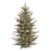 2 ft. x 24 in. - Mixed Country Pine - 73 Classic Tips - 50 Clear Mini Lights - Artificial Half Wall Christmas Tree  - Vickerman A801891
