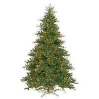 9 ft. x 72 in. - Mixed Country Pine - 2362 Classic Tips - 1100 Clear Incandescent Mini Lights - Vickerman Artificial Christmas Tree