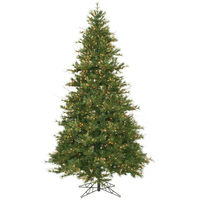 9 ft. x 60 in. - Mixed Country Pine - 1956 Classic PVC Tips - 950 Clear Mini Lights - Artificial Christmas Tree   - Vickerman A801681