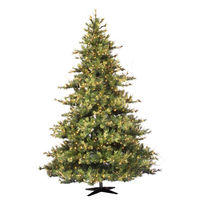 7.5 ft. x 63 in. - Mixed Country Pine - 1624 Classic PVC Tips - 800 Clear Mini Lights - Artificial Christmas Tree   - Vickerman A801676